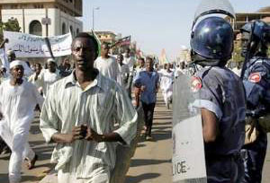 sudan demonstrators